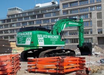 Alsterufer Bagger Wilko Wagner Abbruch